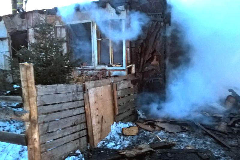 Сгоревший частный дом