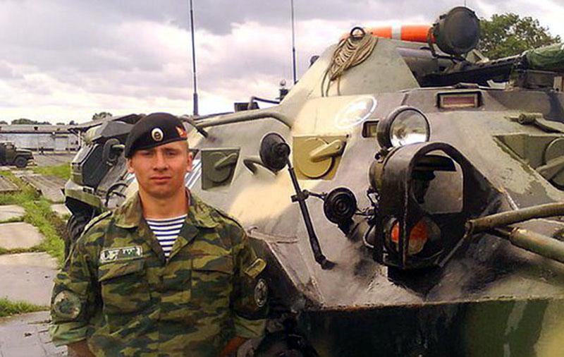 командир отделения десантно-штурмовой роты морской пехоты, сержант Андрей Леонидович Тимошенков