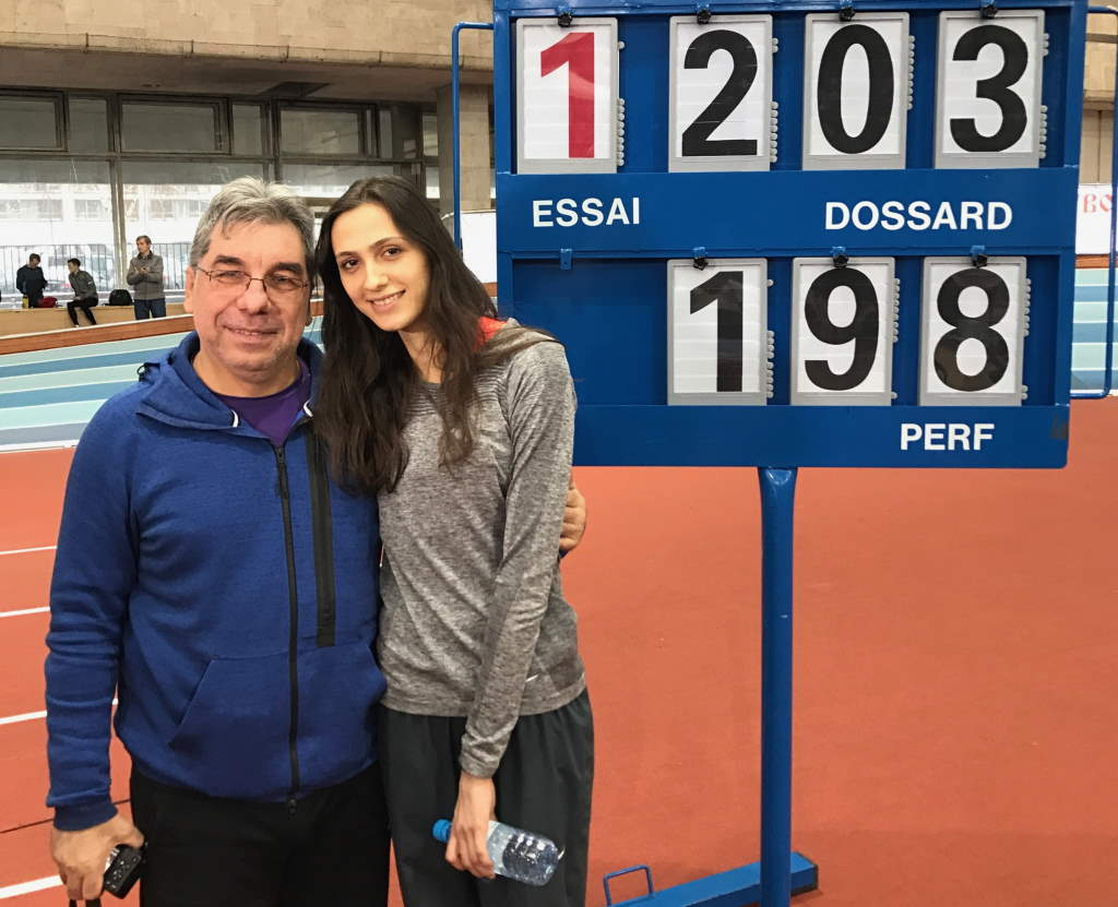 Мария Ласицкене и ее тренер Геннадий Габрилян