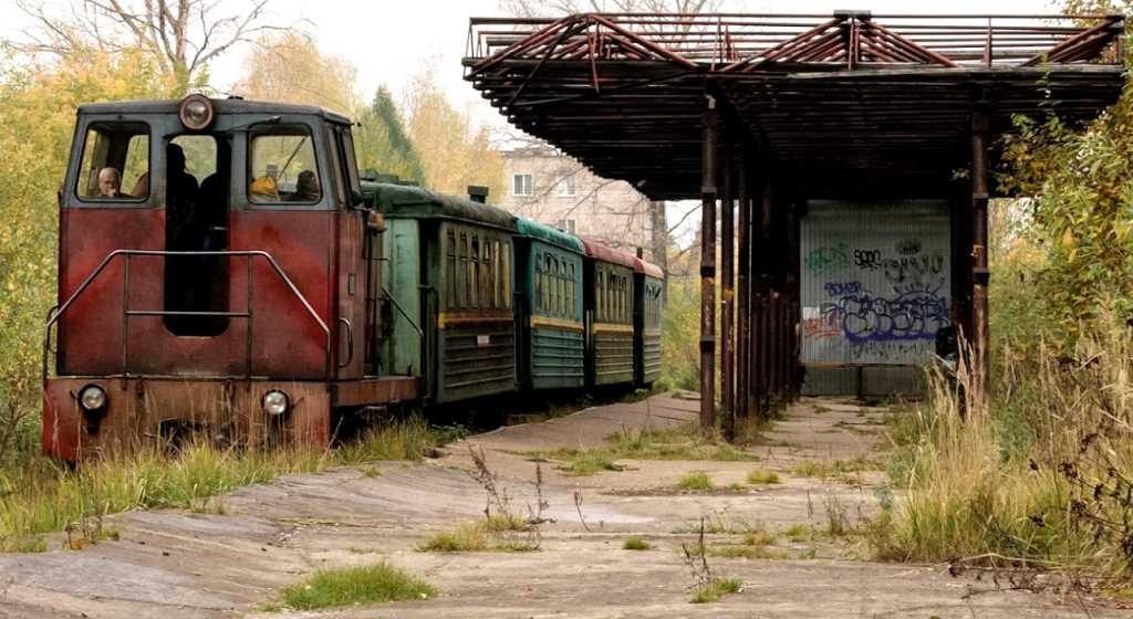 Каринская узкоколейная железная дорога в Кирово-Чепецке, Кировская область